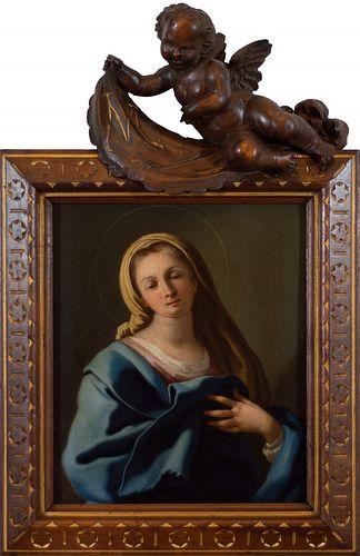 Scuola napoletana, secolo XVIII - Praying Virgin
