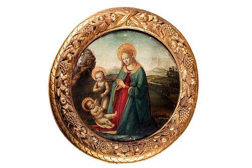 Gherardo di Giovanni del Fora (Firenze 1445-1497)  - Madonna with Child and San Giovannino