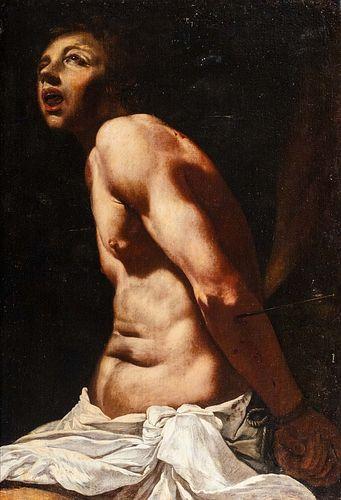Pittore caravaggesco attivo nell'Italia meridionale, circa 1615-20 - San Sebastian