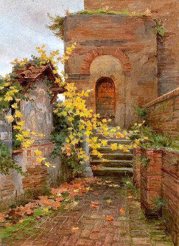 Ettore Ferrari (Roma 1845-1929)  - Three views