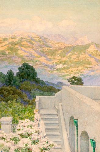 Ettore Ferrari (Roma 1845-1929)  - Pair of summer views