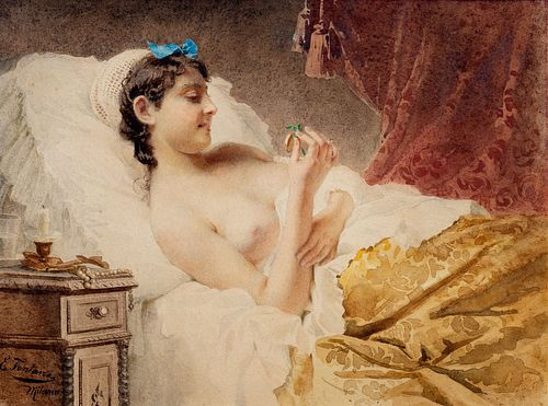 Ernesto Fontana (Milano 1837-Cureglia 1918)  - Desire