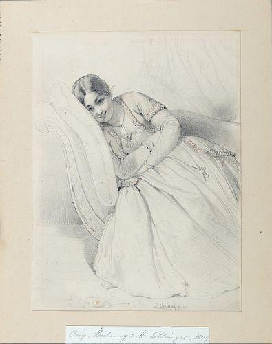 Henri-Guillaume Schlesinger (Francoforte sul Meno 1814-Neuilly-sur-Seine 1893)  - Smiling girl, 1849