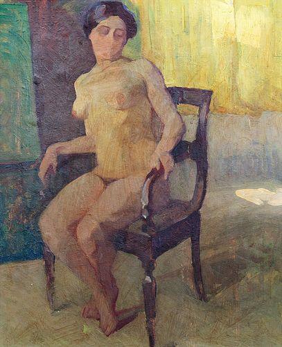 Edgardo Curcio (Napoli 1881-Torre del Greco 1923)  - Naked woman