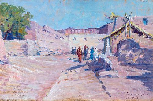 Leonardo de Mango (Bisceglie 1843-Istanbul 1930)  - India, Fardapur landscape, 1921
