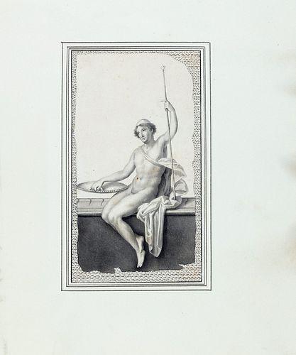 Studio dei Morghen, attivo durante il Regno delle Due Sicilie - Five drawings from the Herculaneum paintings
