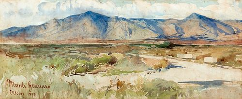Enrico Coleman (Roma 1846-1911)  - View of Monte Gennaro, 1899