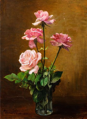 Edoardo Gioja (Roma 1862-Londra 1937)  - Rose