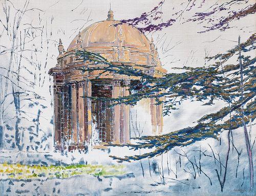 Scuola europea del XX secolo - The temple in the park
