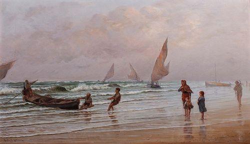 Raffaello Celommi (Firenze 1881-Roseto degli Abruzzi 1957)  - Stormy day