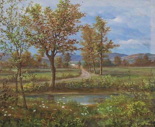 G. Cecconi (Scuola italiana XIX - XX secolo) - Pair of spring landscapes