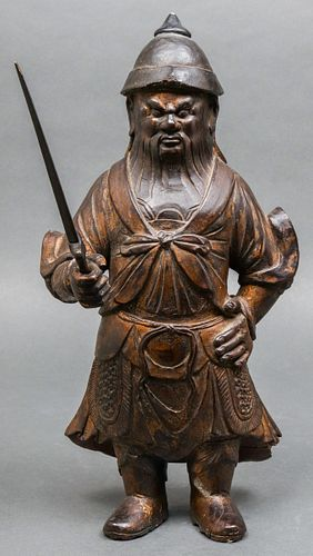 Chinese Ming Dynasty Warrior Sculpture