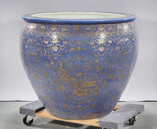 Large Chinese Glazed Porcelain Fish bowl