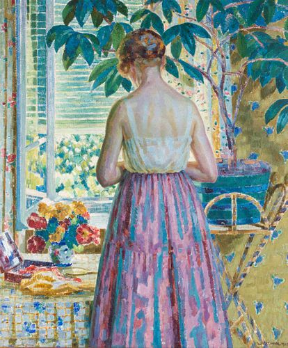 Louis Ritman (American, 1889-1963) Lady by a Window, 1918