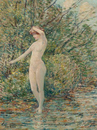 Childe Hassam (American, 1859-1935) Nude, 1903