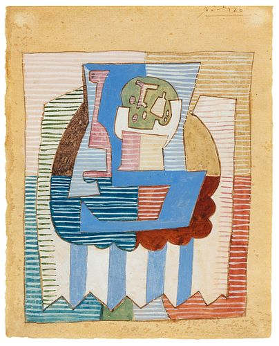 Pablo Picasso (Spanish, 1881-1974) Untitled (Abstract Composition), 1920