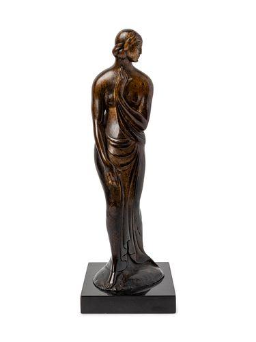 Gaston Lachaise(French, 1882-1935)Pudeur (Draped Figure, Standing Woman) [LF 18]model circa 1915-17, cast circa 1917-20