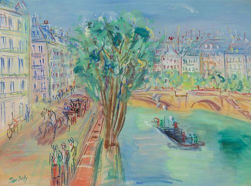 Jean Dufy (French, 1888-1964) Bord de Seine