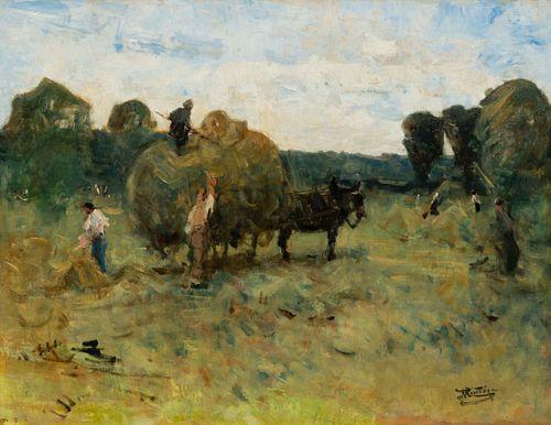 Pierre Eugene de Montezin  (French, 1874-1946)  La Fenaison