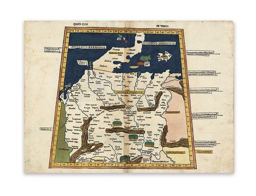 Ptolemaus Ulmer Ausg.. Magna Germania. Quarta Europae tabula.