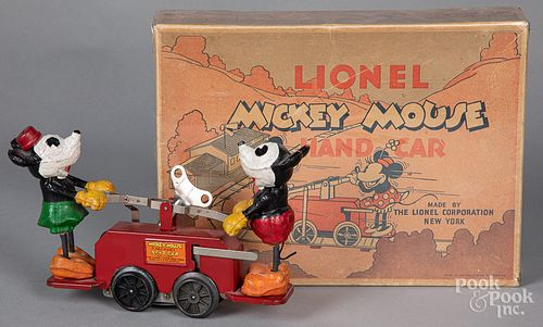 Lionel boxed Mickey Mouse hand car