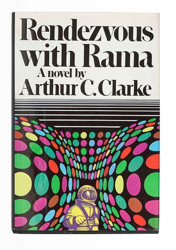 CLARKE, Arthur C. (1917-2008). Rendezvous with Rama. New York: Harcourt Brace Jovanovich, 1973.