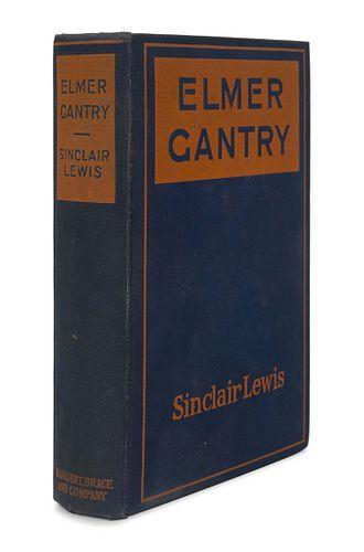 LEWIS, Sinclair (1885-1951). Elmer Gantry. New York: Harcourt, Brace and Company, 1927.