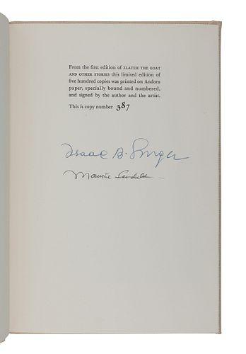 SENDAK, Maurice (1944-2012), illustrator. -- SINGER, Isaac Bashevis. Zlateh the Goat. [New York]: Harper & Row, [1966].
