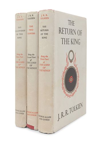 TOLKIEN, John Ronald Reuel (1892-1973). [The Lord of the Rings trilogy:] The Fellowship of the Ring. 1954. -- The Two Towers. 1954. -- The Return of t