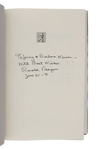 REAGAN, Ronald (1911-2004). An American Life. New York: Simon and Schuster, 1990.