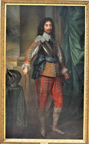 Manner of Anthony Van Dyck, Portrait O/C