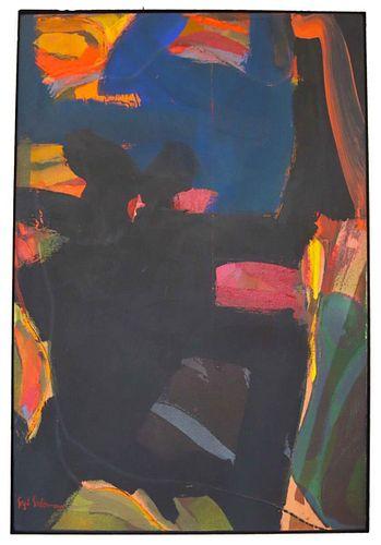 Syd Solomon (1917-2004) Amer., Acrylic on Canvas