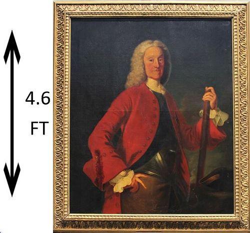 Large 18th C. Portrait of a Sea Captain