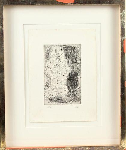 Joan Miro (1893-1983) Spanish, Etching