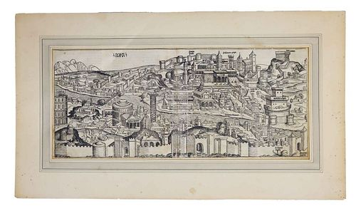 17th Century Engraving of Rome