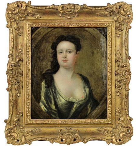 18th C French School, Portrait of a Lady, O/C