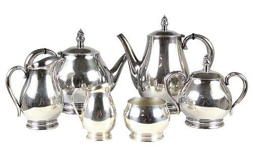 (6) Pc Royal Danish International Sterling Tea Set