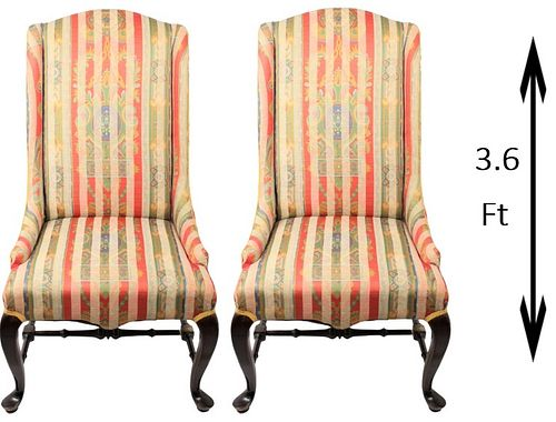 Exceptional Pair of Classical Scalamandre Chairs
