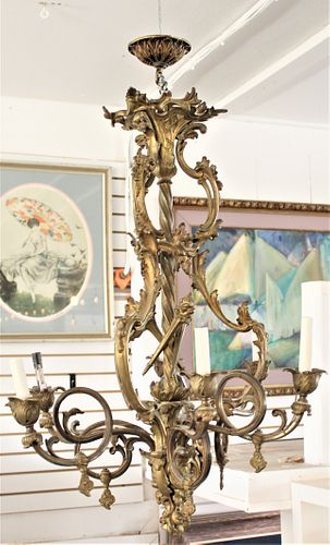 Late 19th Century French Rococo Chandelier