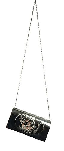 Fendi Clutch Bag Silver Plate