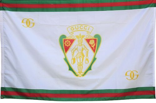Large Vintage Rare Gucci Coat of Arms Flag/Banner