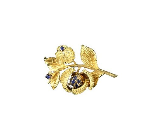 Tiffany & Co 18K Yellow Gold Brooch