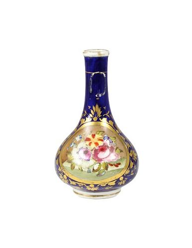 English Bloor Derby Cobalt Decorated Vase