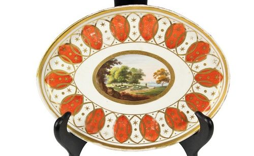 English Derby Oval Teapot Stand