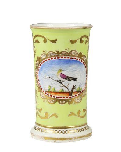 English Coalport Regency Green Spill Vase