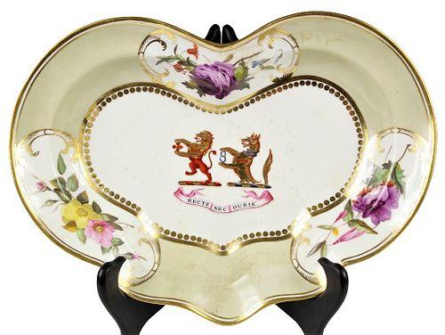 English Chamberlain's Worcester Shaped Dish