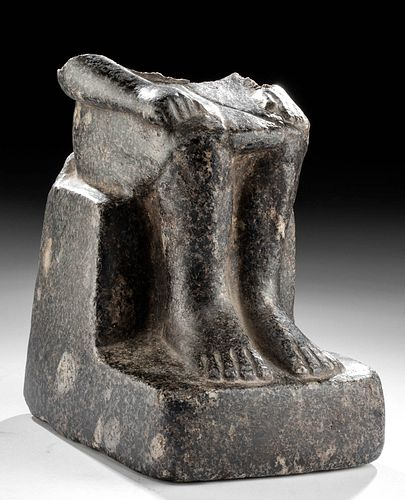 Incredible / Fine Egyptian Granite Seated Male Figure