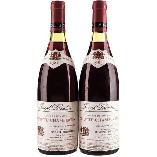 Griotte - Chambertin. Cosecha 1983. Beaune. France. Niveles: a 3.5 cm. Piezas: 2.