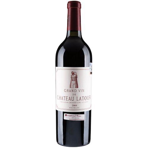 Château Latour. Cosecha 2004. Pauillac. Premier Grand Cru Classé. Nivel: en el cuello. Calificación: 93 / 100.
