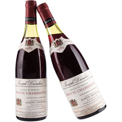 Griotte - Chambertin. Cosecha 1983. Beaune. France. Niveles: a 3.3 y 4.7 cm. Piezas: 2.